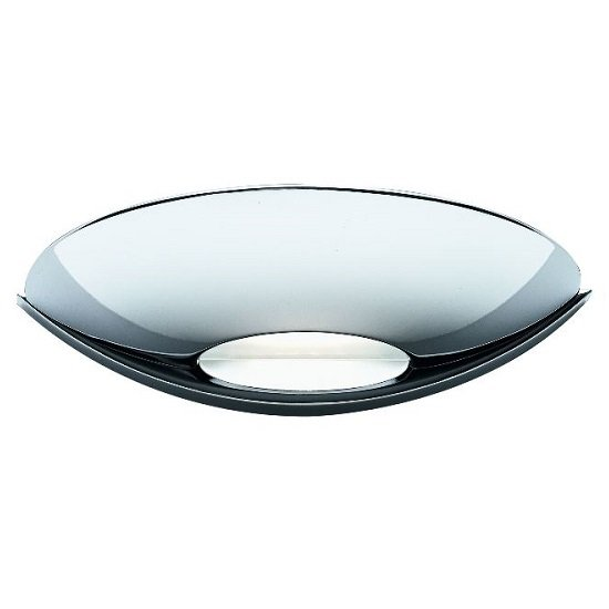 Modern Led Uplight Frosted Glass Wall Bracket In Chrome