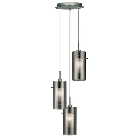 Read more about Duo2 3 light ceiling pendant finished in polished chrome