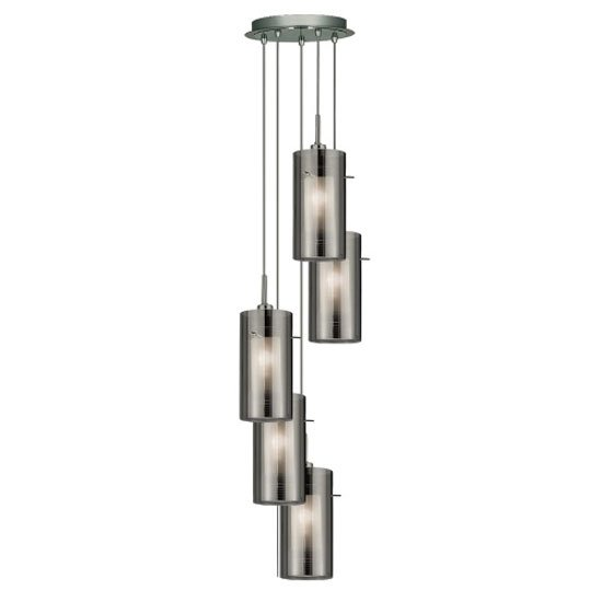 Read more about Duo2 5 light ceiling pendant finished in polished chrome