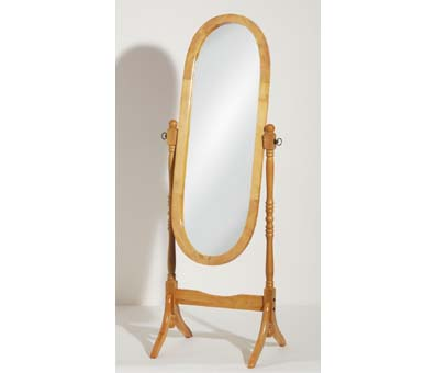Oval Cheval Floor Standing Mirror In Oak 603 Furniture in