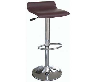 Linda Pu Black Leather Bar Stool With Gas Lift Function