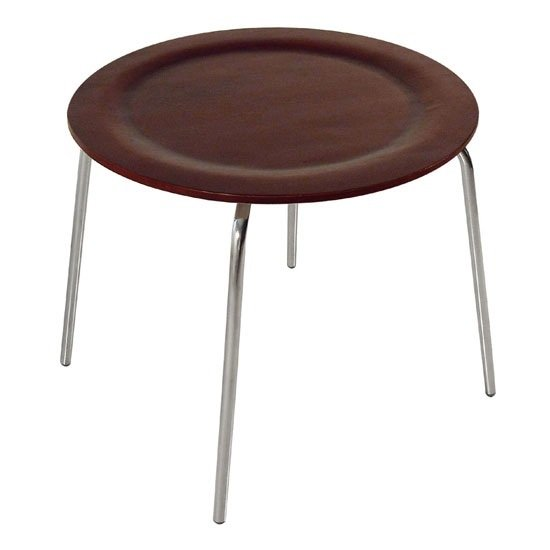 Bentwood Round Shaped Mahagony Coffee Table With Chrome Legs Buy Wooden Coffee Table