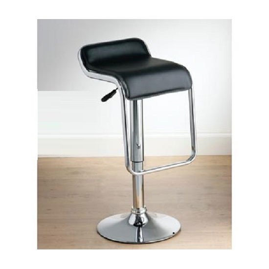 Read more about Torino faux leather bar stool in black with gaslift action