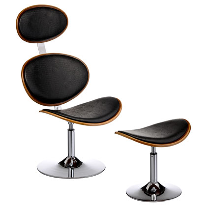 Ribble Bar Chair with Footstool