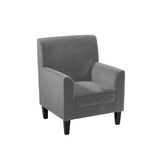 Medan charcoal grey velvet accent chair 2402511 buy - Purple chairs for bedroom ...