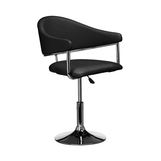 Rush Bar Chair In Black Leather Effect