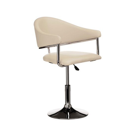 Rush Bar Chair In Cream Leather Effect