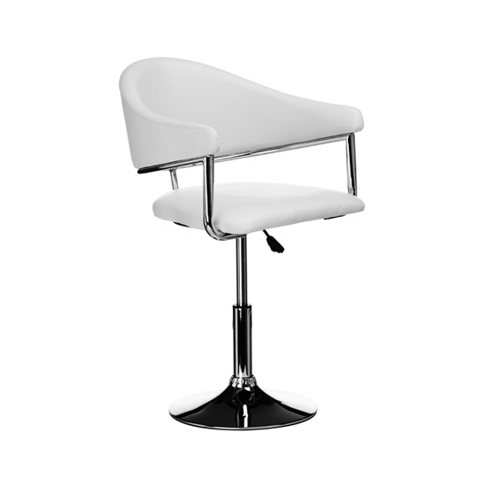 Rush Bar Chair White Leather Effect ,2402621