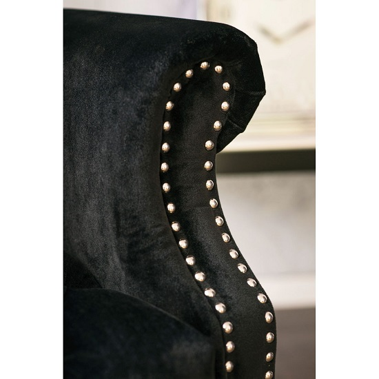 Radisson Tall Porter Chair In Black Cotton Velvet_4