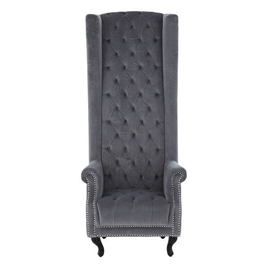 Radisson Tall Porter Chair In Grey Cotton Velvet_2