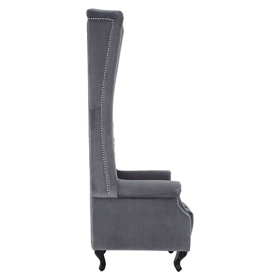 Radisson Tall Porter Chair In Grey Cotton Velvet_3