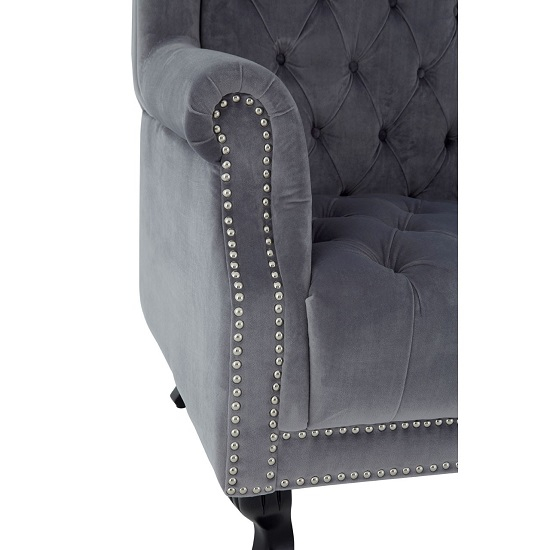 Radisson Tall Porter Chair In Grey Cotton Velvet_5