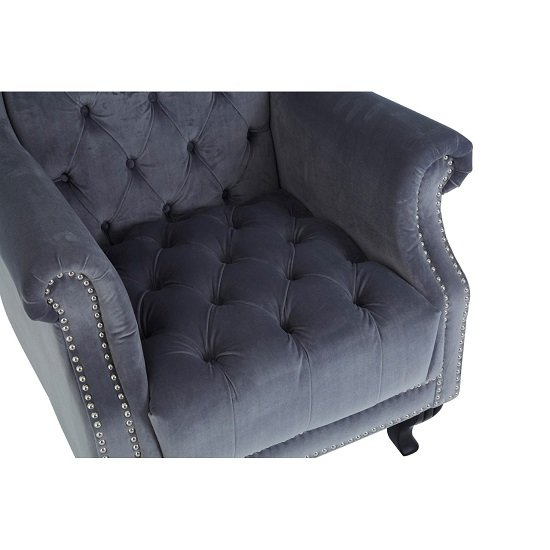 Radisson Tall Porter Chair In Grey Cotton Velvet_6