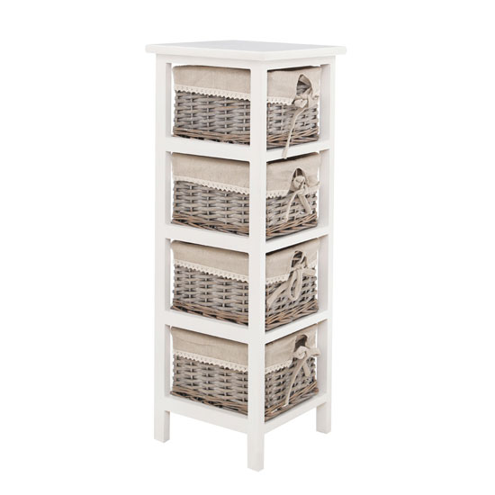 Read more about Mesan chest of drawers in paulownia wooden frame with 4 drawers