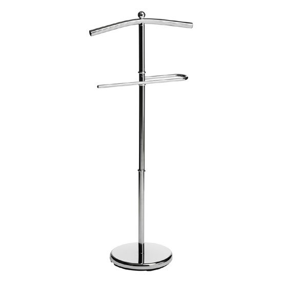 Kevin Valet Stand In Chrome With Round Base
