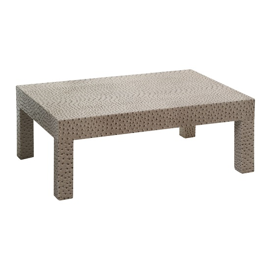 Bosnia Coffee Table Rectangular In Ostrich Faux Leather