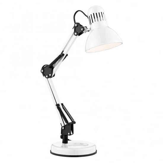 Shiny White Hobby Table Lamp_1
