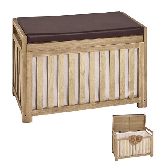 Tanja Wooden Storage Bench In Oak 26120
