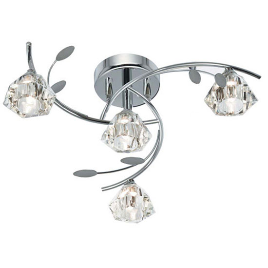 Read more about Sierra chrome ceiling light with sculptured clear glass