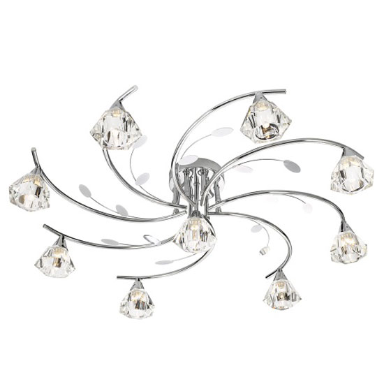 Read more about Sierra 9 chrome ceiling light with sculptured clear glass