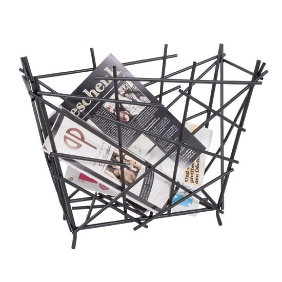 Mikado Stylish Anthrazit Finish Magazine Rack