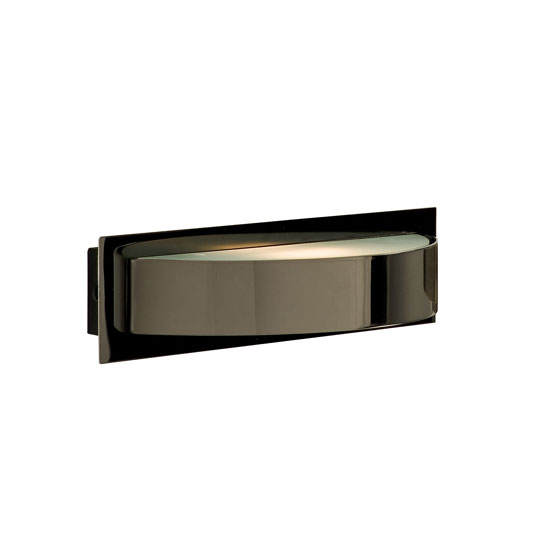 Read more about Single halogen wall light finished in black chrome
