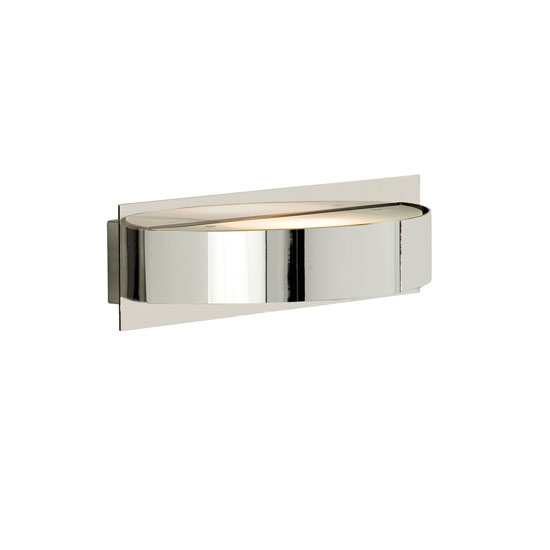 Single Halogen Wall Light Finished In Chrome