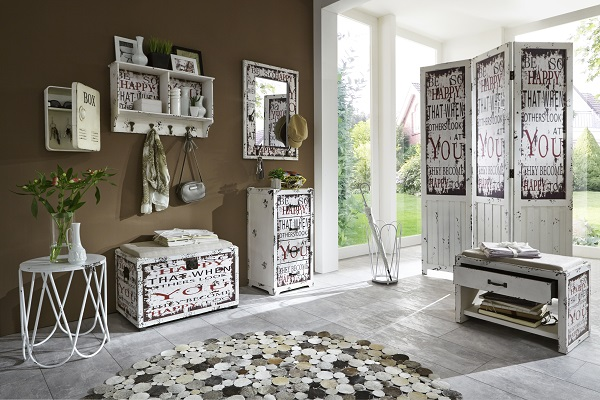 Optical Contemporary Room Divider In Vintage Look_2