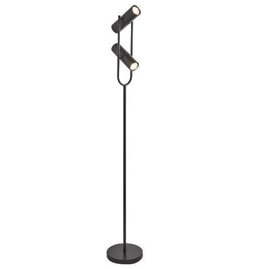 Cylinder Shade Floor Lamp In Matt Black_1