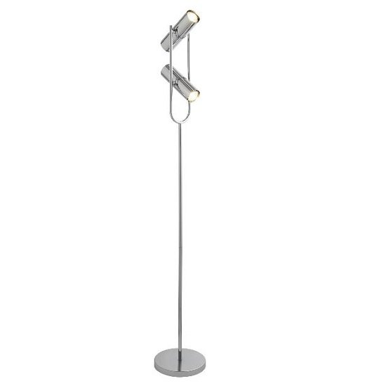 Cylinder Shade Floor Lamp In Chrome