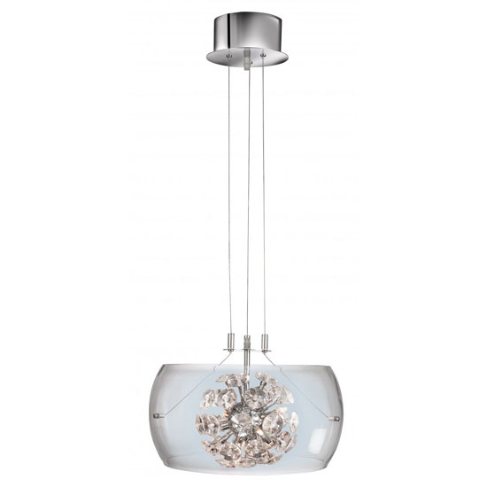 Read more about Curva 6 light ceiling pendant finished in polished chrome