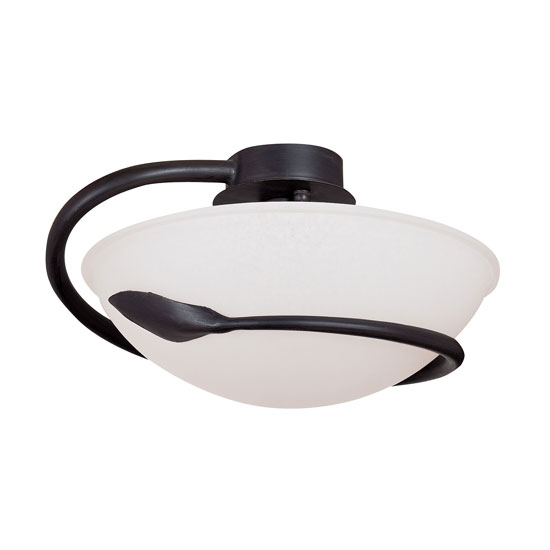 Read more about Cobra semi flush ceiling light finished in rustic brown