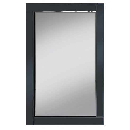 bevel 120x80 wall mirror in smoke grey glass border. Black Bedroom Furniture Sets. Home Design Ideas