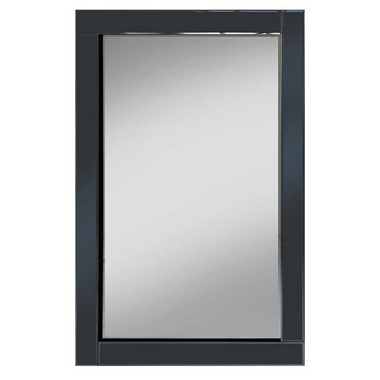 Bevel 120x80 Wall Mirror In Smoke Grey Glass Border