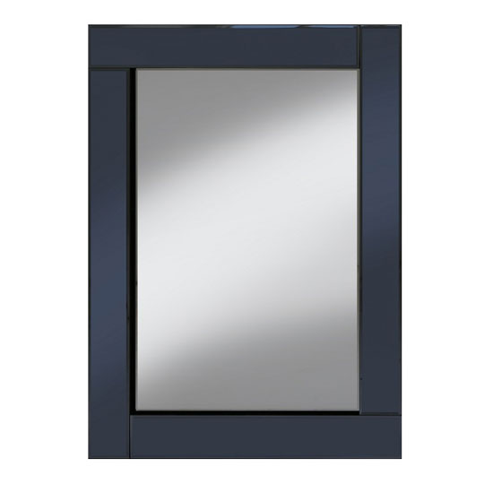Bevel 60x80 wall mirror in smoke grey glass border 24244 for Miroir 60x80