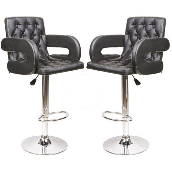 Buy 2 Smart Black Bar Stools Just Only For £129.95