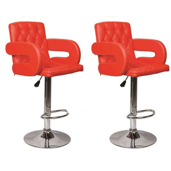 Buy 2 Smart Red Bar Stools Just Only For £129.95