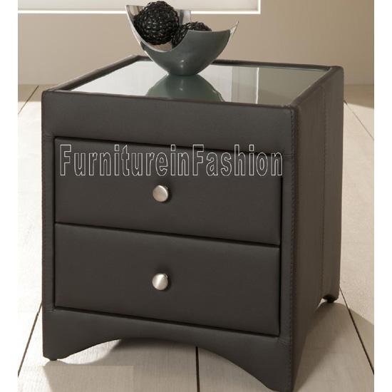Allendale Brown 2 Drawer Bedside Cabinet