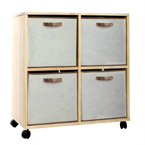 2 x 2 Storage Trolley With Reversible Fabric Drawers ST22 - 5 Tips On How To Get Rid Of Toy Clutter Or Reduce It At The Very Least