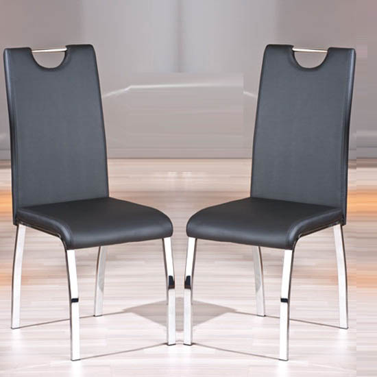 Octavio Black Dining Chairs In A Pair