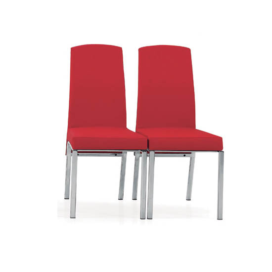 Special offer buy 2 hilary red dining room chairs for for Red dining room chairs