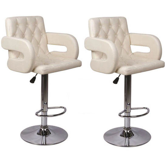 Buy 2 Smart Cream Bar Stools Just Only For £129.95