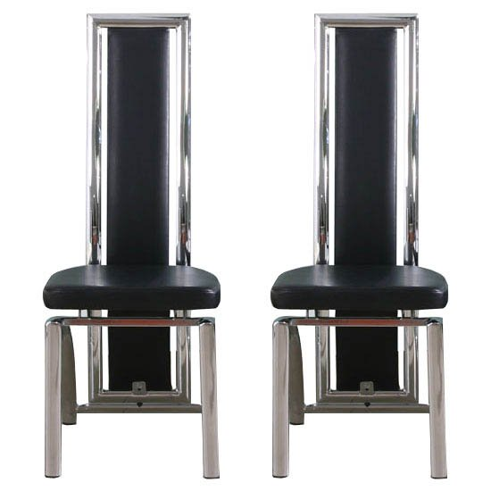 Chicago Black Dining Chairs In A Pair