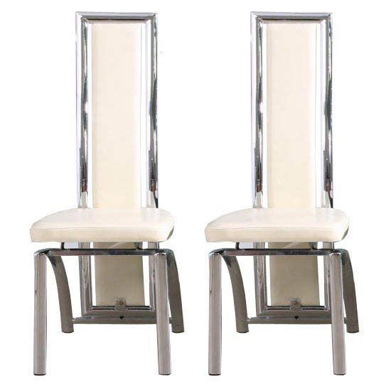 Chicago Cream Dining Chairs in A Pair
