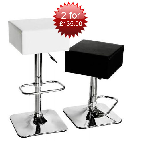 2xcompton bar stool blk wht - Important Guidelines In Choosing the Correct Bar Stools