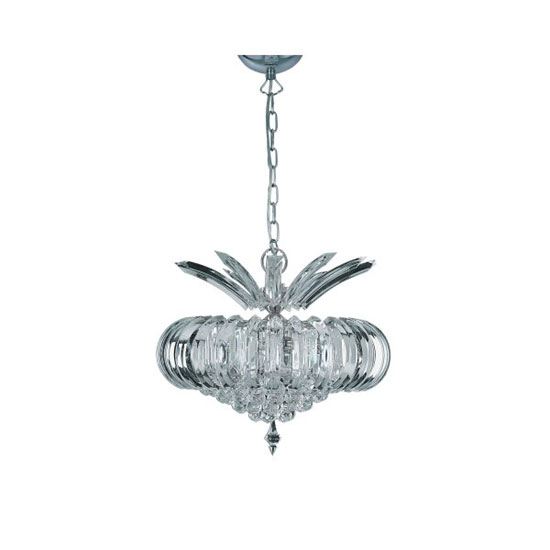 Sigma 5 Light Acrylic Ceiling Pendant In Chrome Finish