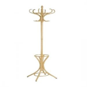 Wooden Coat Stand With Rotating Top In Natural
