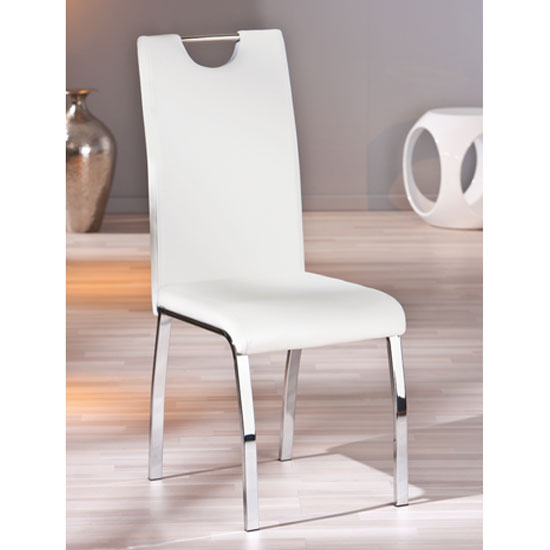 Martini Dining Chair In White Faux Leather With Chrome Base : 30200932 Georgia Dining Cha from www.furnitureinfashion.net size 550 x 550 jpeg 26kB