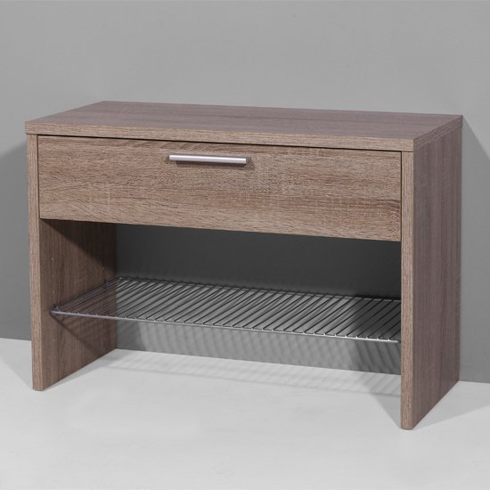 Read more about Super shoe bench in dark oak with 1 drawer