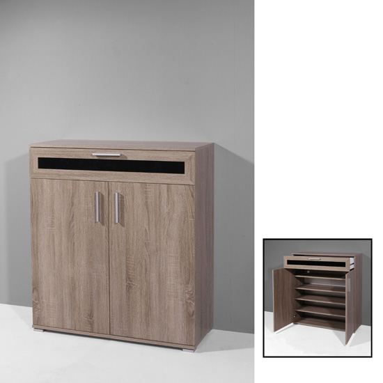 Super Shoe Cabinet In Dark Oak With 2 Doors 18344 Furniture